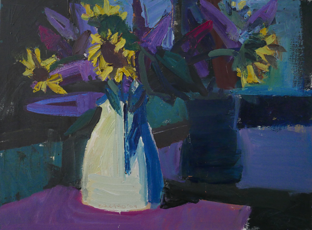 'White Jug Reflected' 2009, oil on canvas, 46cm x 61cm,  £5,000