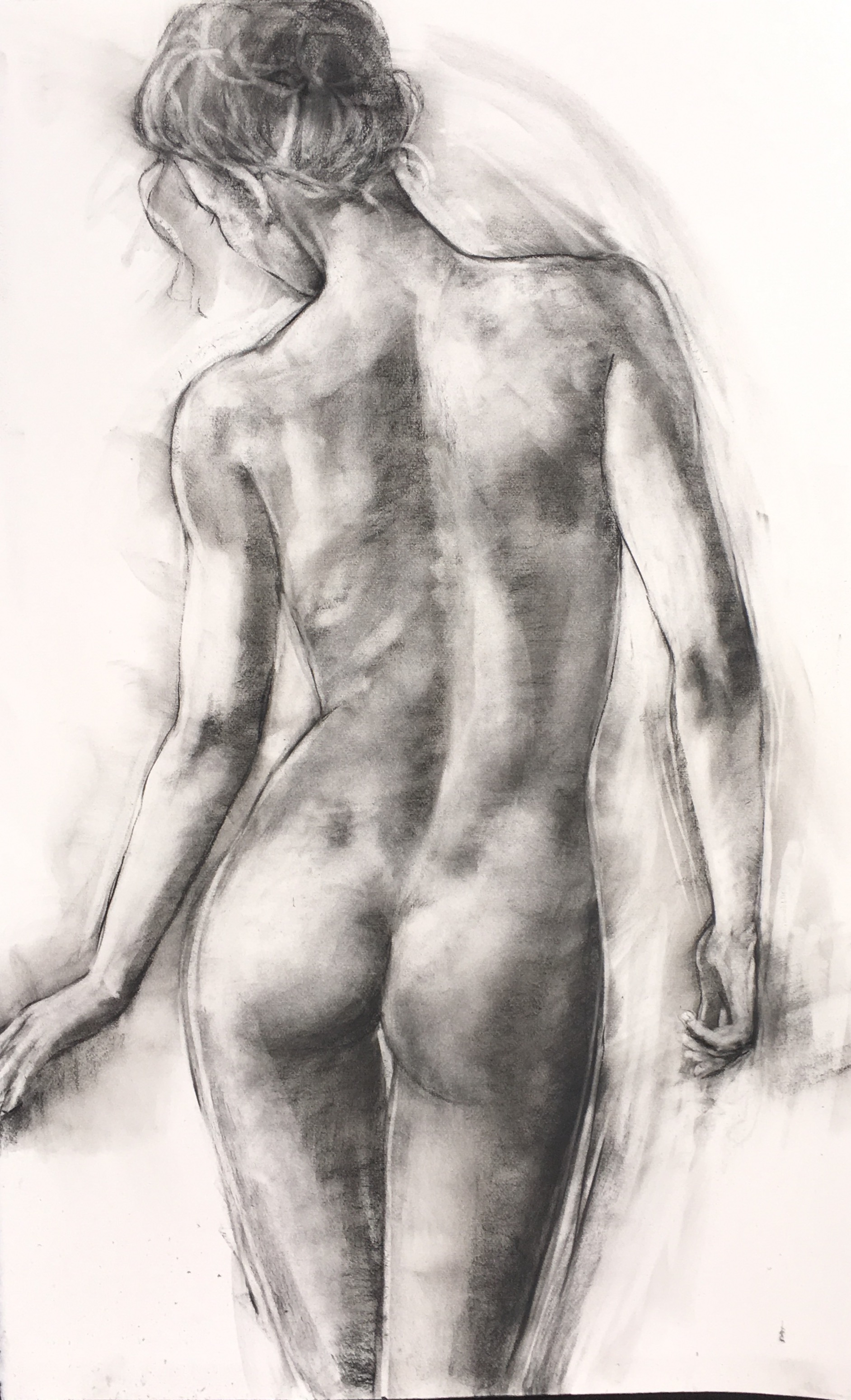 """'Beauty' charcoal and pastel on paper 39"""" x 25"""" £2,200"""