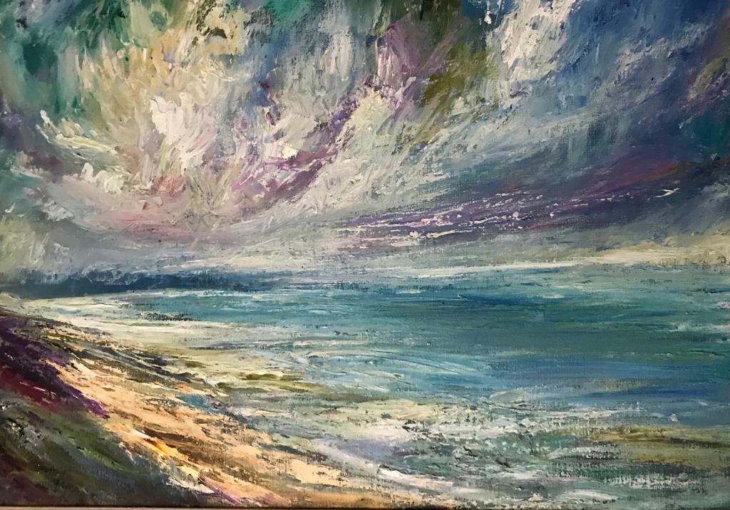 Rossnowlagh Strand, oil on linen 50 x 70cm, £2400