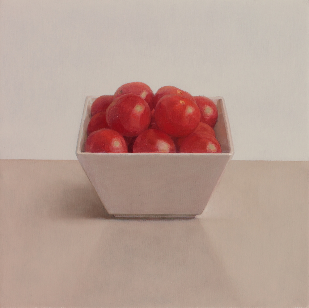 """Cherry Tomatoes oil on canvas 8"""" x 8"""" £1600"""