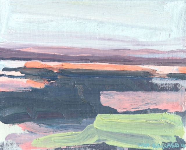 "'Twilight Islands' oil on canvas 8"" x 10"" £550"