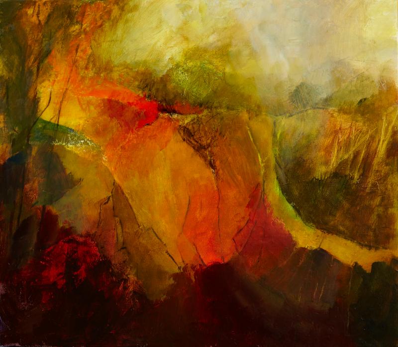 """Autumn, acrylic on linen 26"""" x 30"""", £4800"""