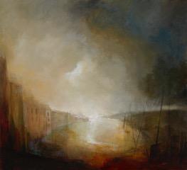 Docklands, 100 x 110cm, acrylic on canvas