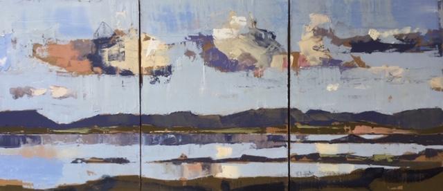 'Cashel Study' - Triptych, oil on panel,  41cm x 91cm £9000