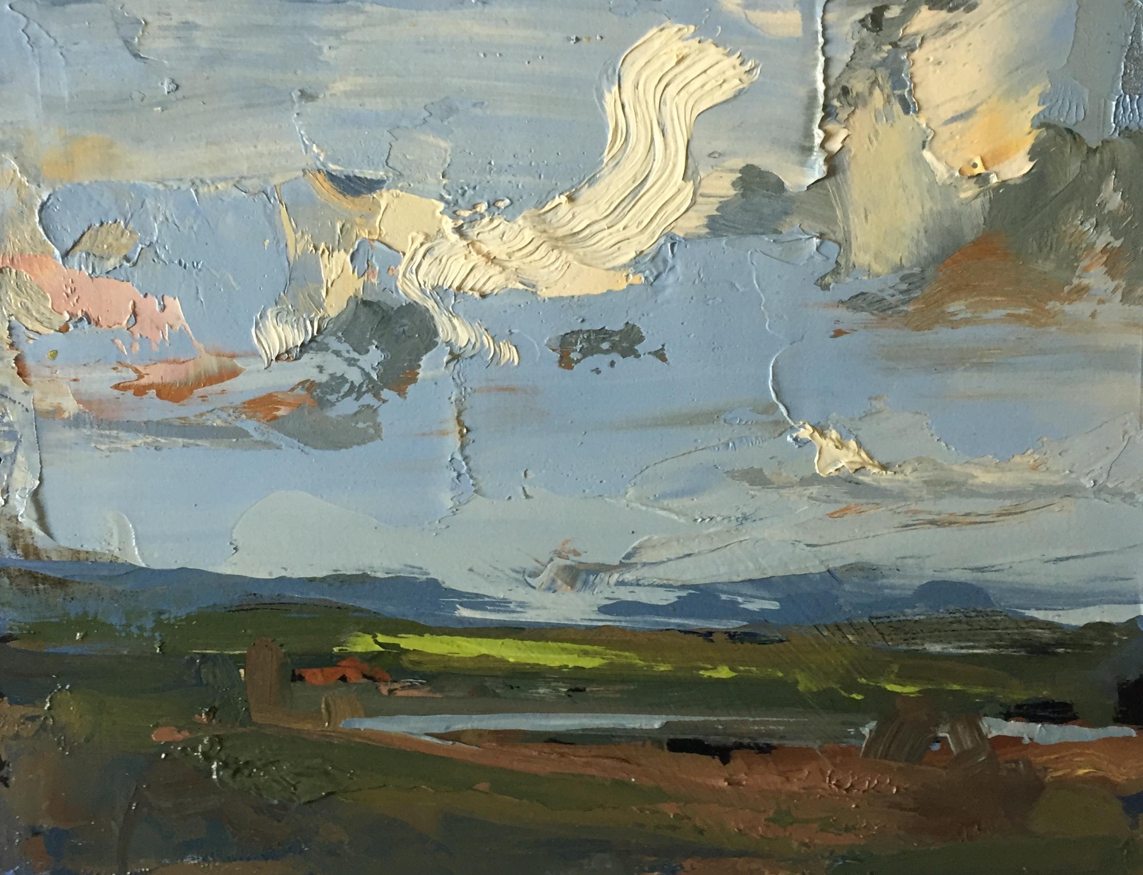 'Cloud Study', oil on panel, 18cm x 23cm, £1800