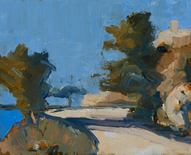 'Hydra Path Study I', oil on panel, 25cm x 30cm, £2750