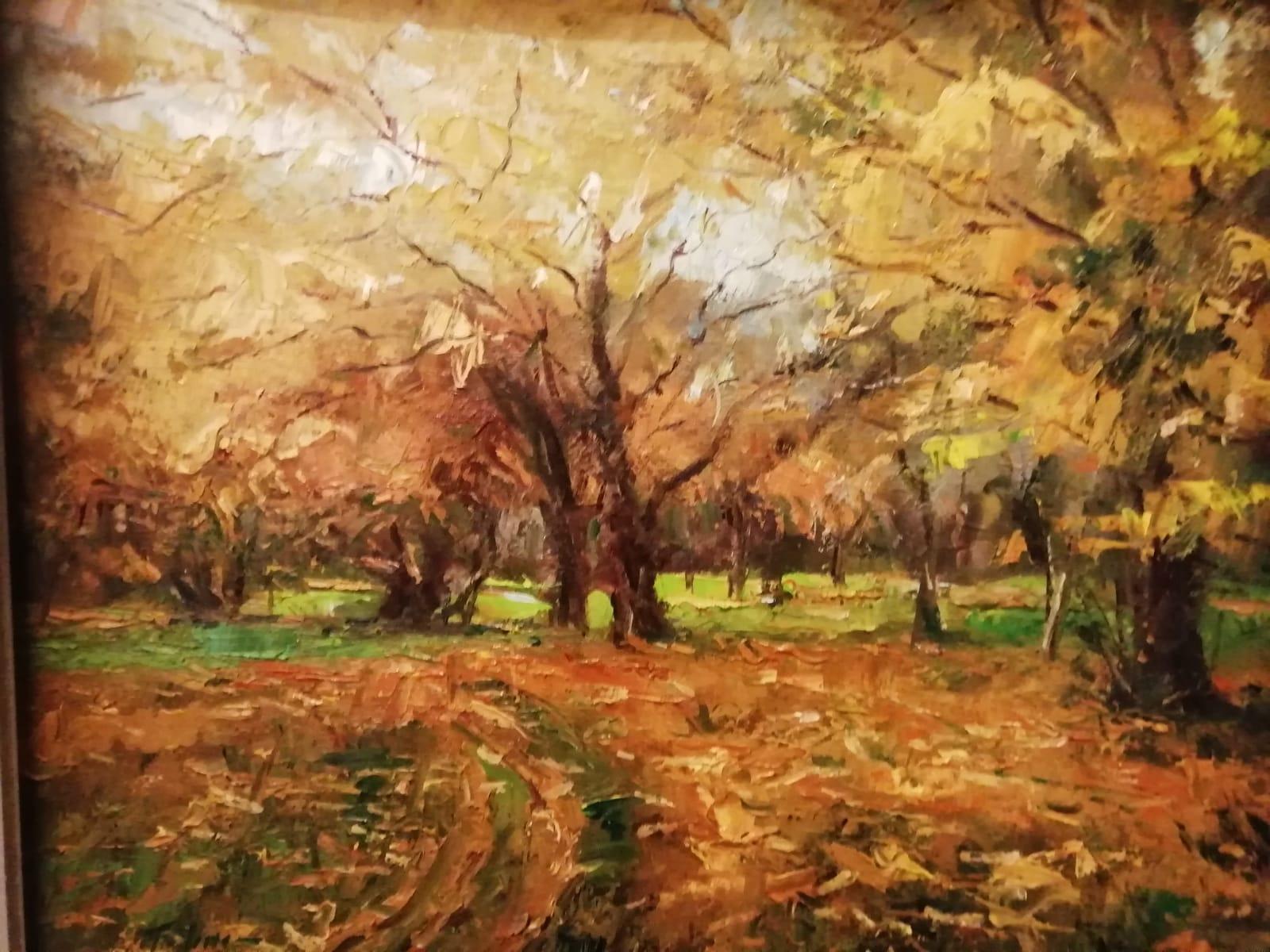 'Autumn Leaves', oil on board, 51cm x 61cm,  £1,800