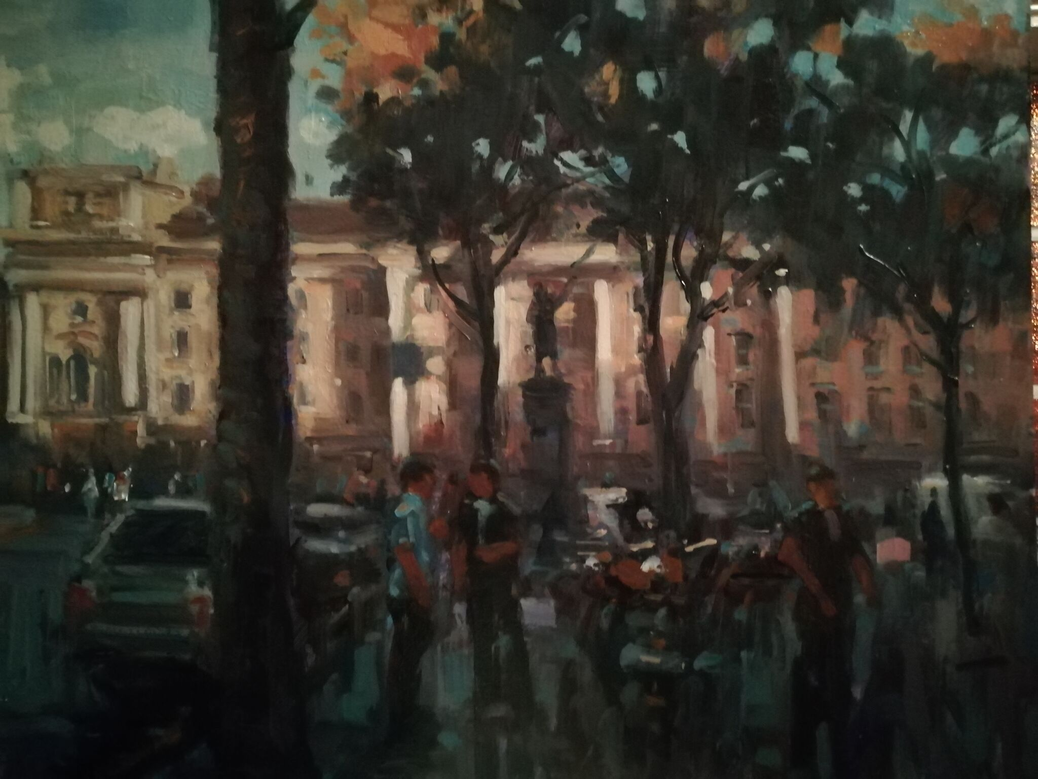 College Green  51x 61cm  oil on board £2000