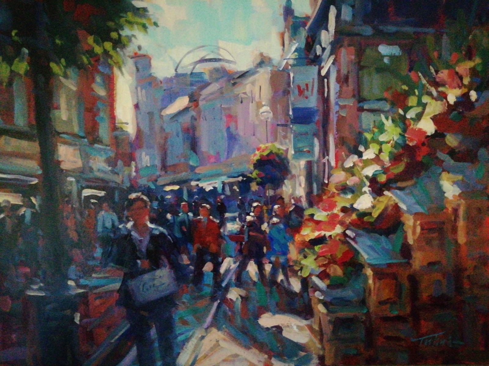 'Sunny Afternoon Grafton St.', oil on board, 51cm x 61cm, £1,800