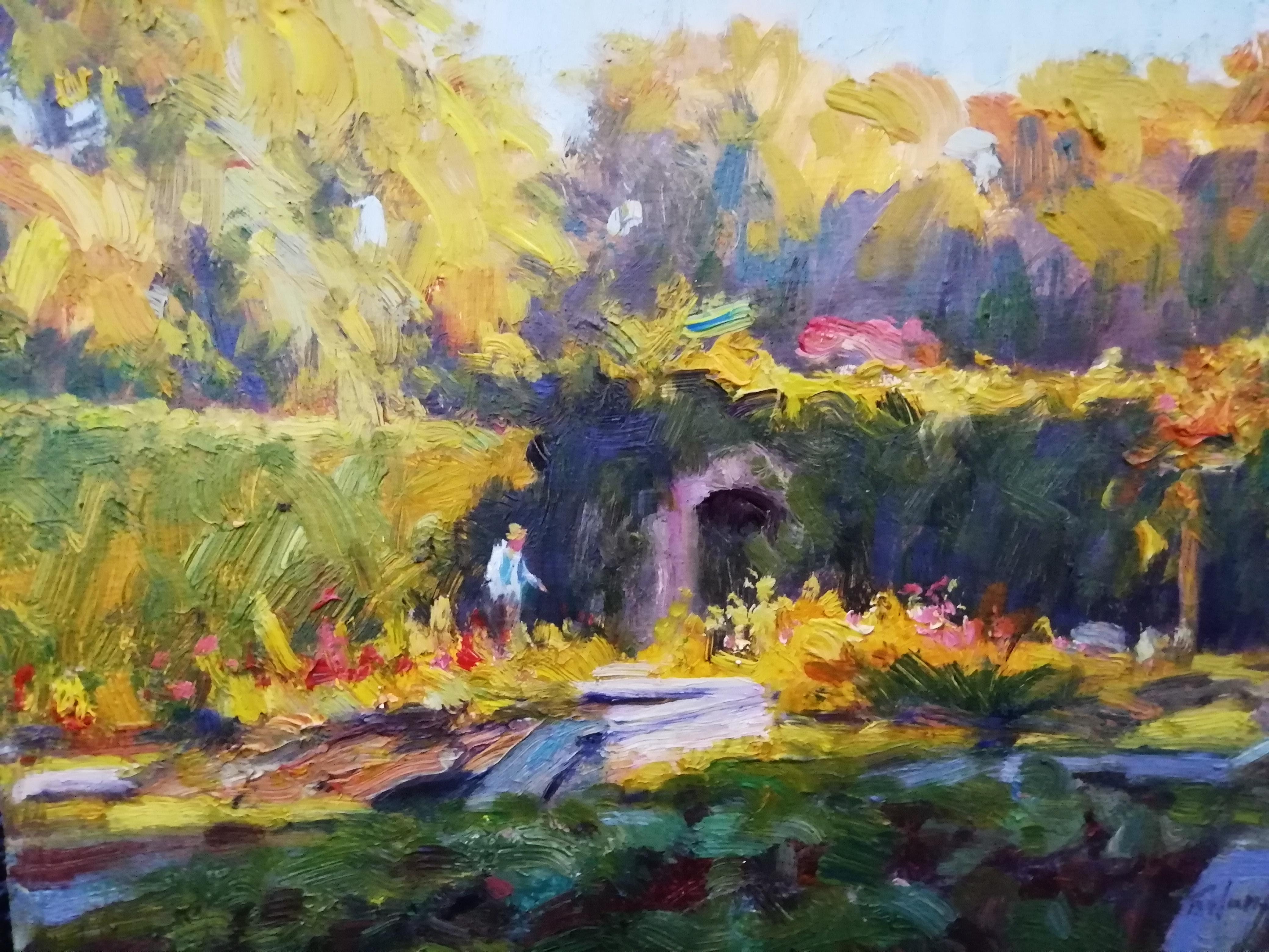 'The Fairy Garden, St.Annes Park', oil on,19cm x 23cm (framed)£800