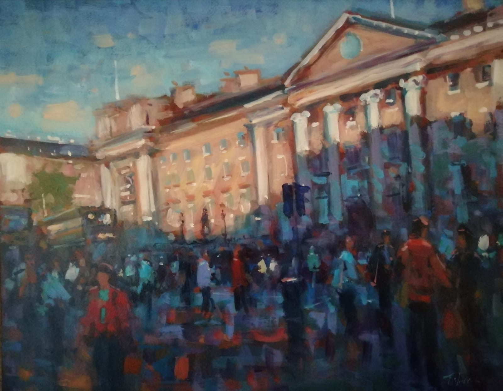 'Trinity College Dublin', oil on board,  51cm x 61cm, £1,800