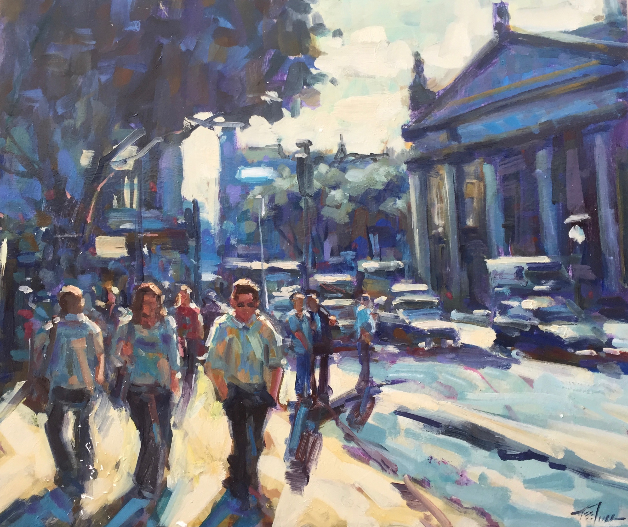 Trinity College, oil on board, 51x61cm £2000 2