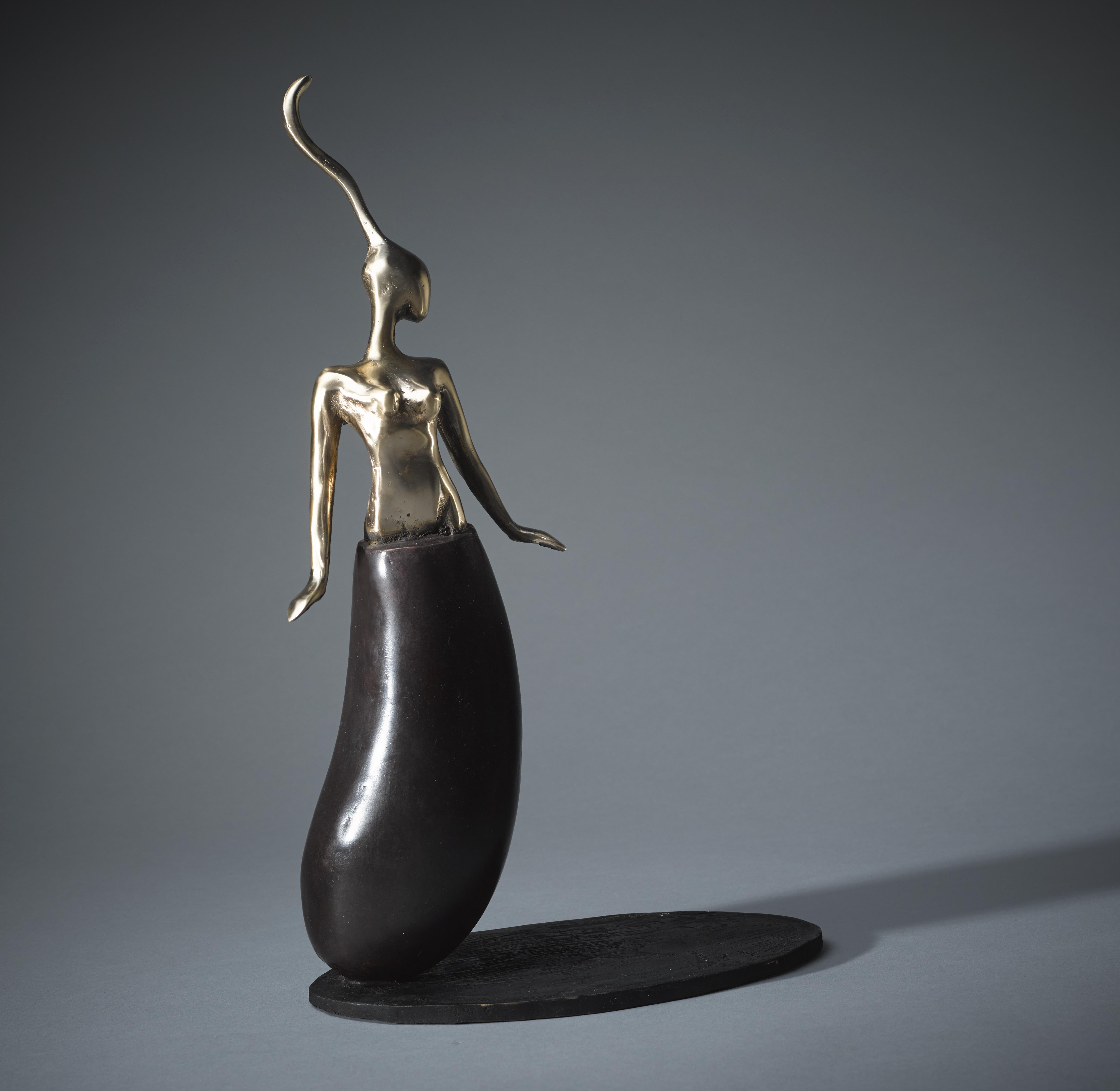 'Mademoiselle Aubergine' 16 x  10.5 x 4.5in,  Edt 3 of 5 - £4400