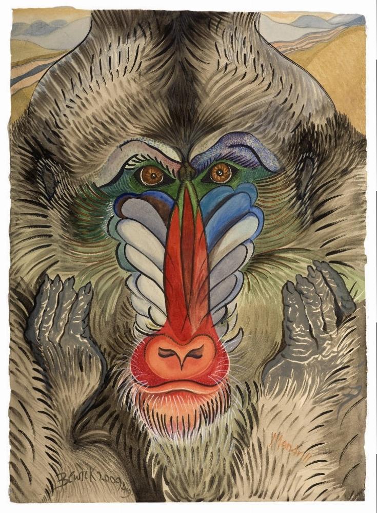 'Mandrill' 2009 Watercolour and acrylic 107cm x 86cm - £12,500