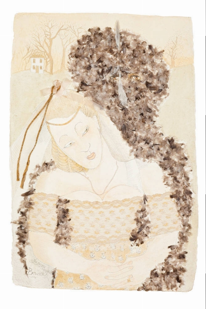 'The Bride's Second Thoughts' 2014 Watercolour and acrylic 124cm x 89cm - £15,000