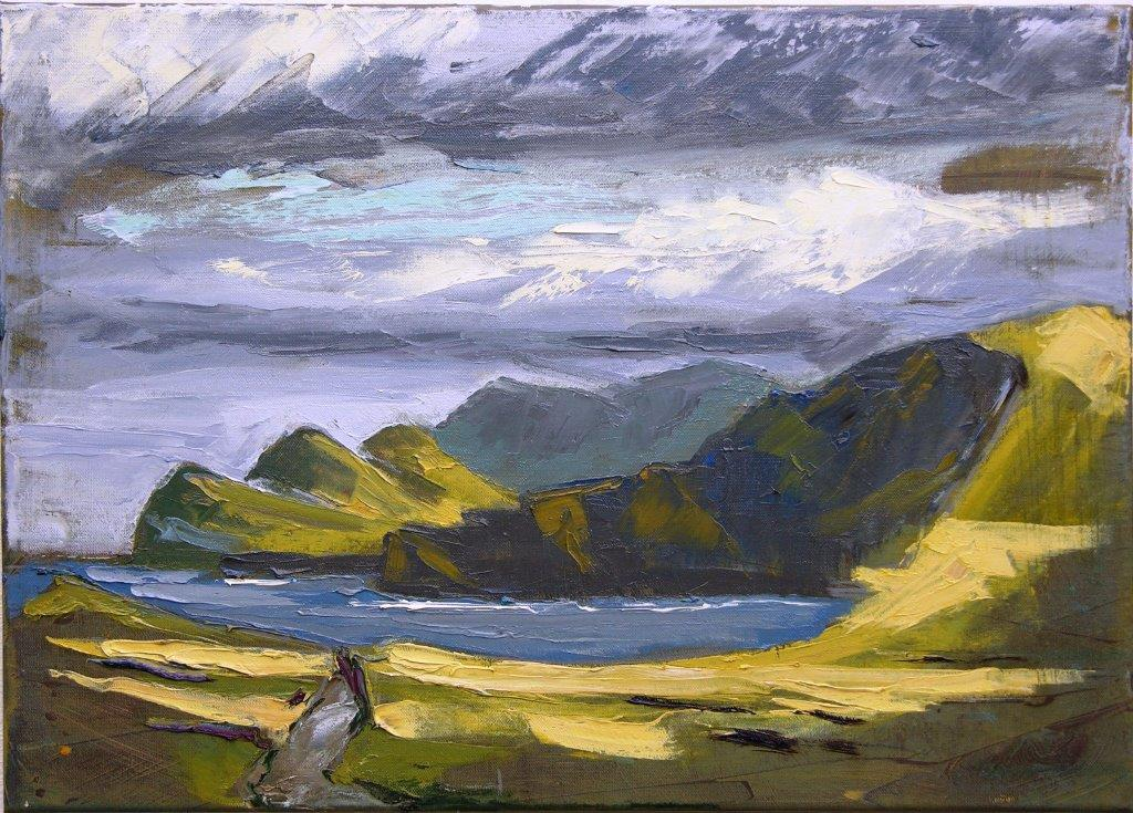 'Three Sisters, Valentia Island', oil on canvas, 70cm x 50cm, £1715