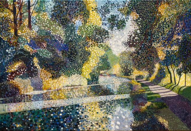 'Towpath', oil on canvas, 50cm x 70cm, £4200