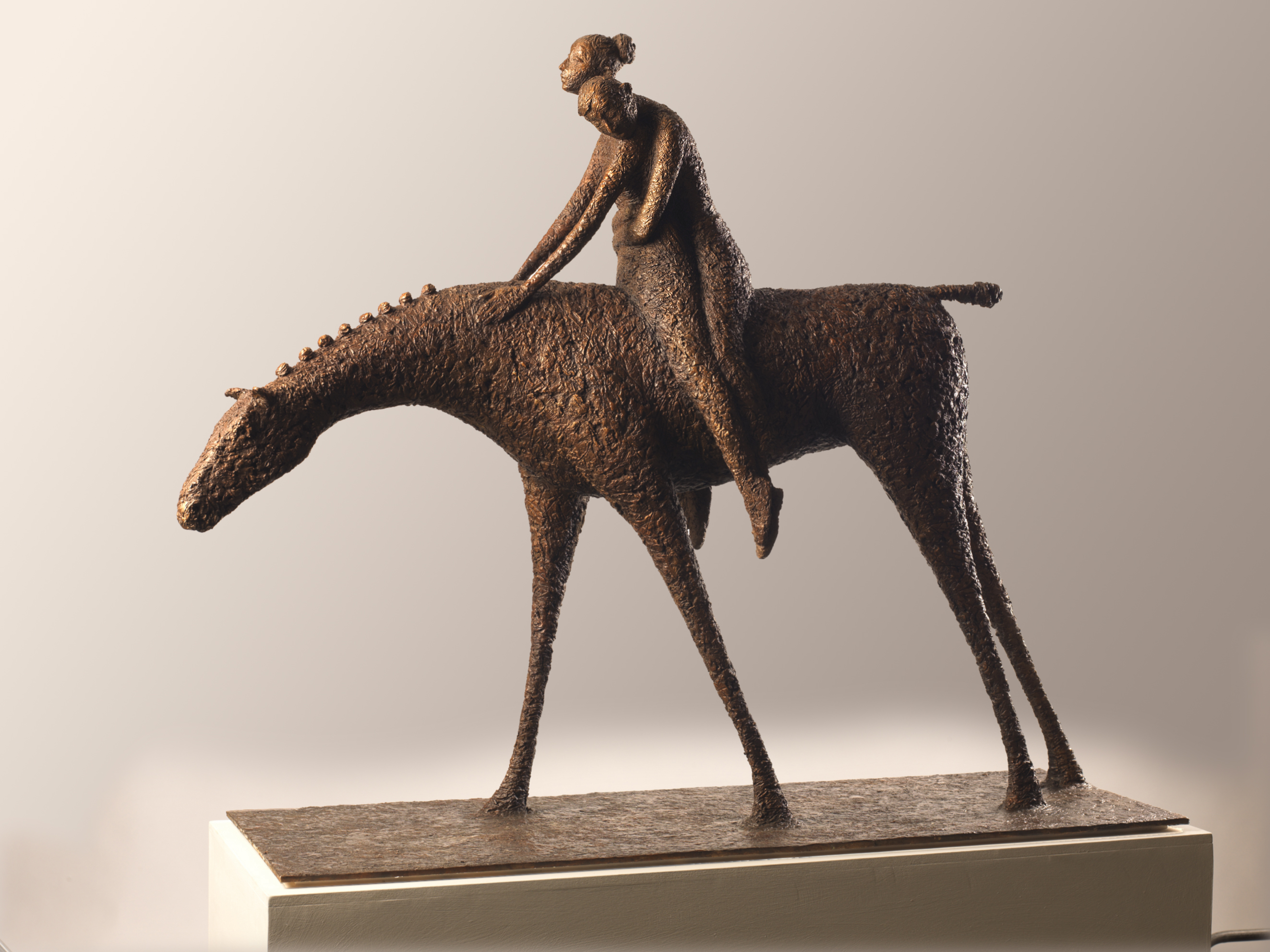 'Elopement', bronze, edt 2 of 9, 96cm x 124cm x 38cm