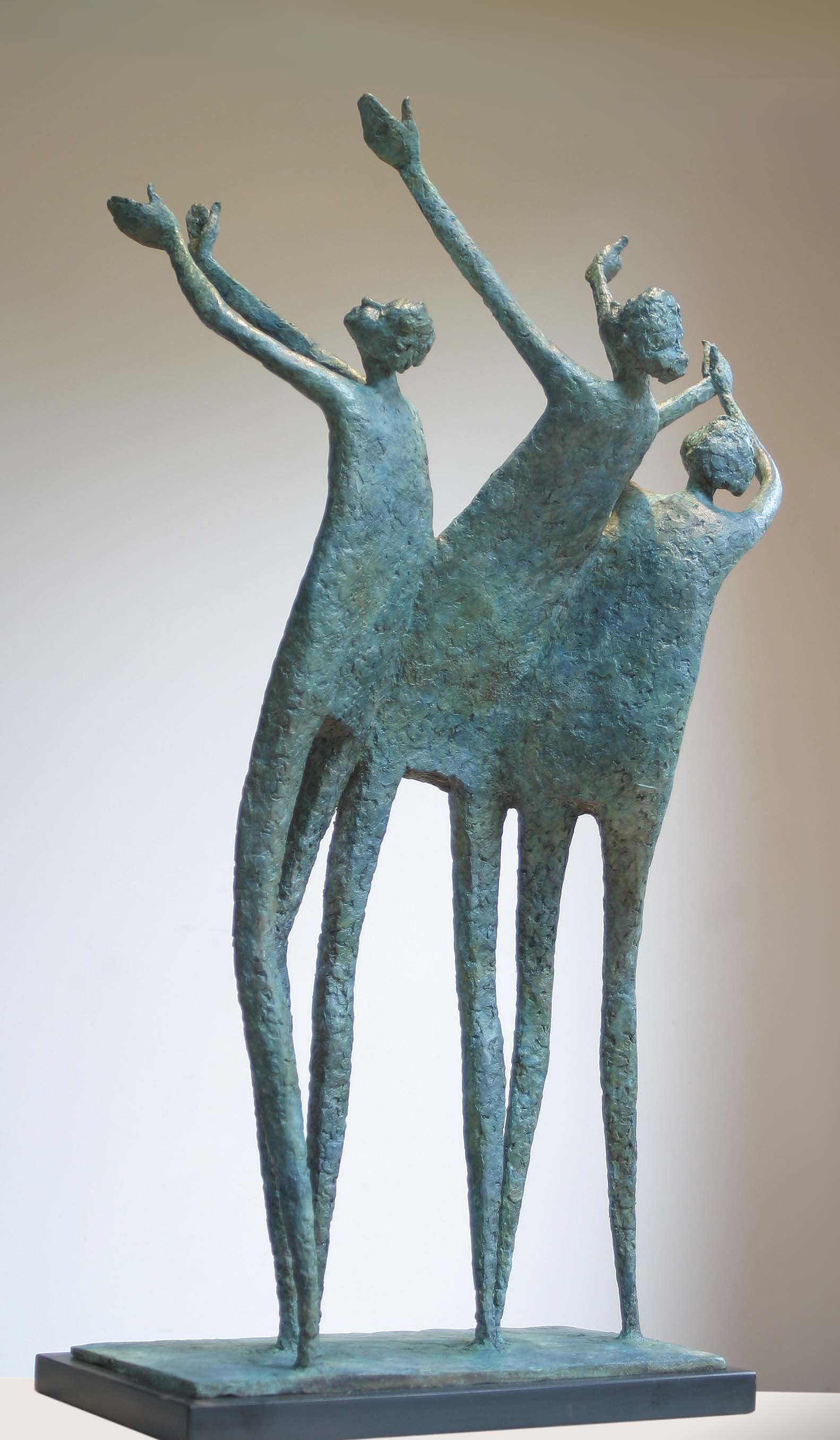 'Yeah yeah yeah', bronze, edt 5 of 9, 60cm x 38cm x 22cm (with graphinte base)