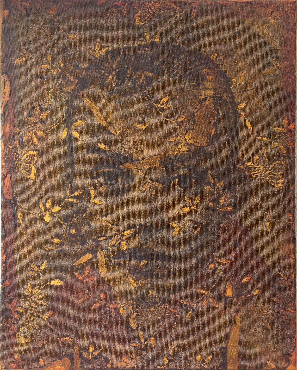 'Enigma of Supermodel', mixed media on canvas, 40cm x 30cm,