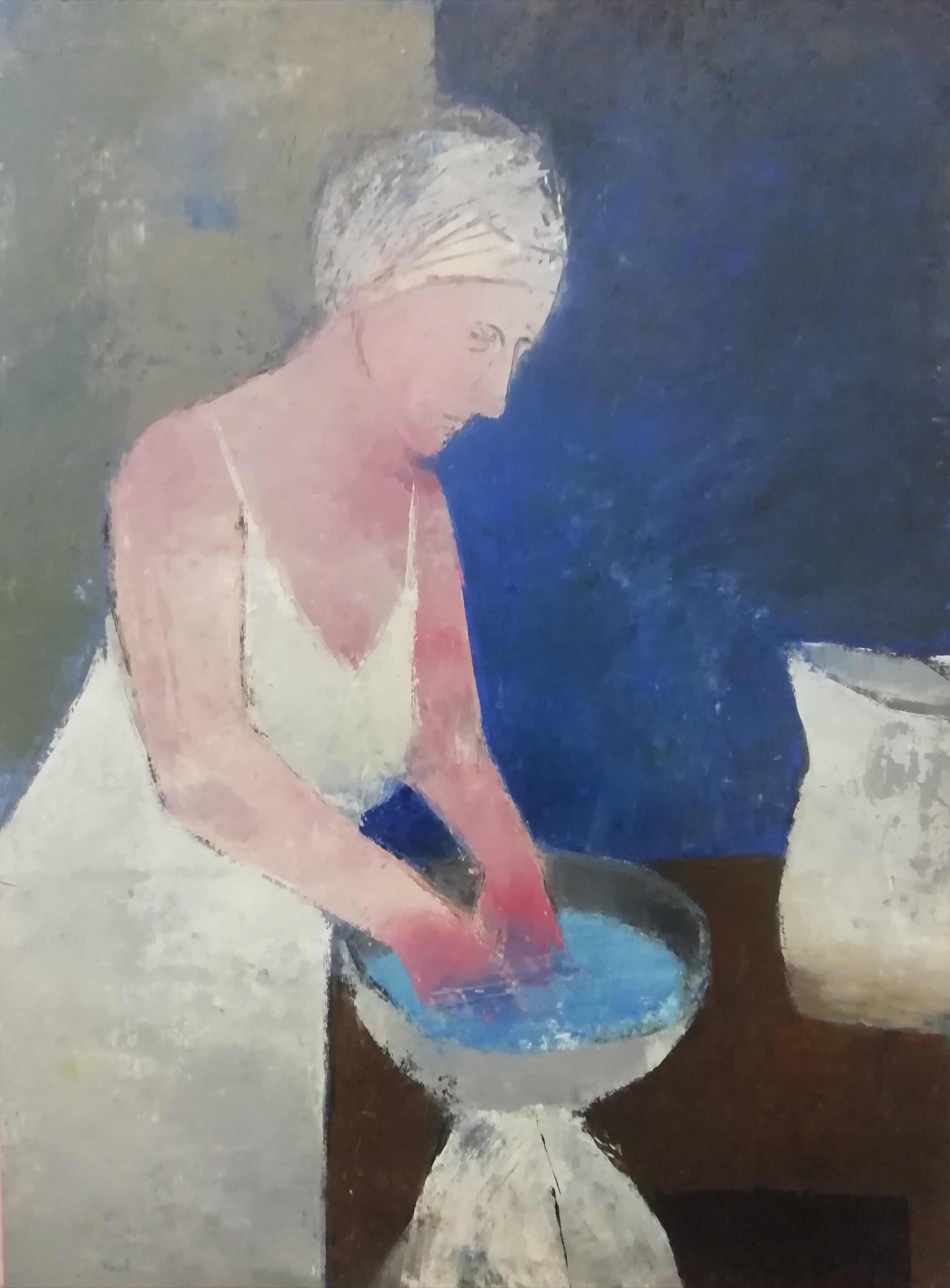 Night Bather, Oil on canvas, 61cm x 46cm, £950