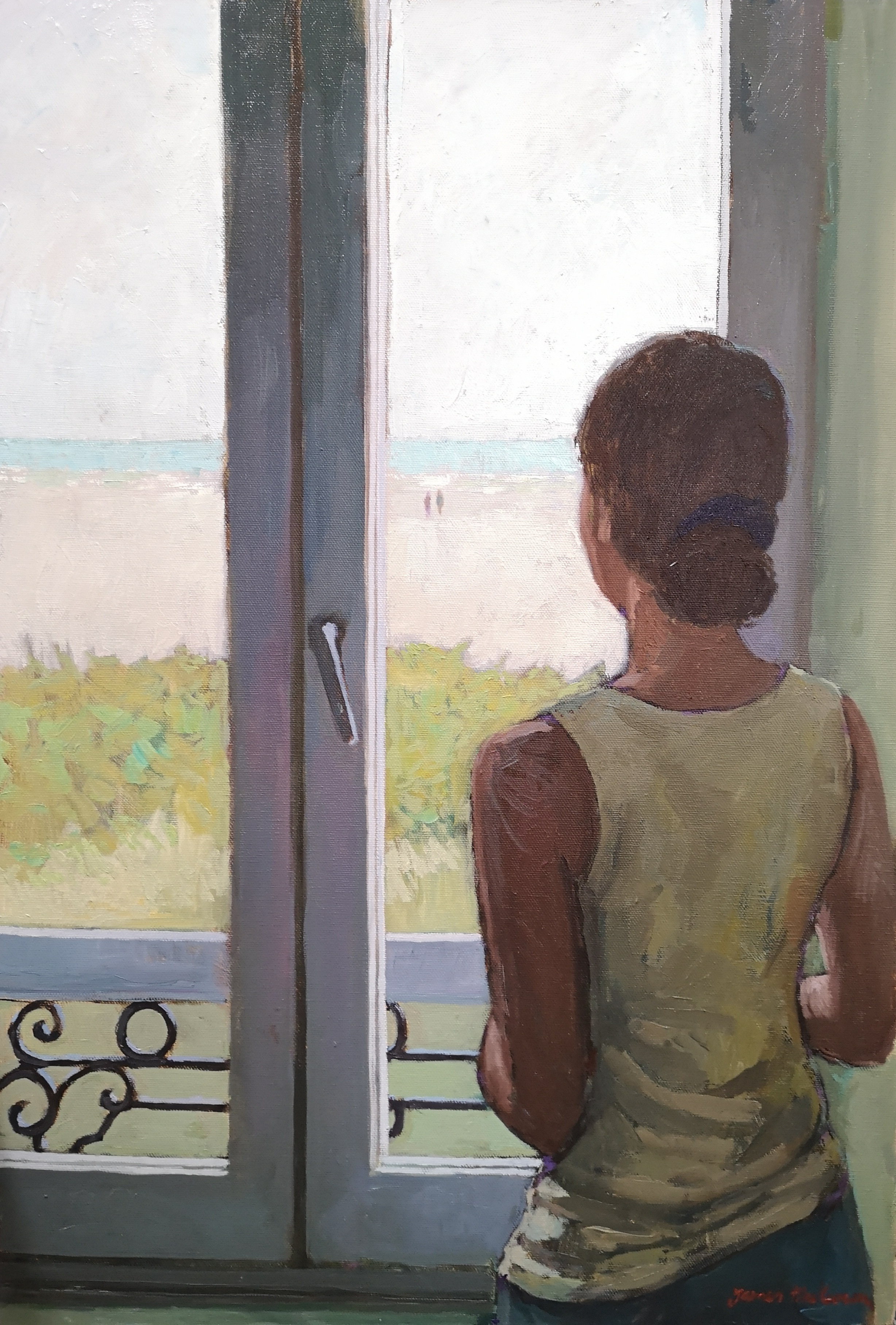 'The Window', oil on canvas, 73cm x 50cm, £3,600