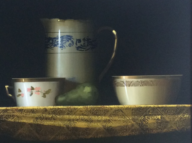 """Still Life with Pear, oil on panel, 20"""" X 24"""", £9,000"""