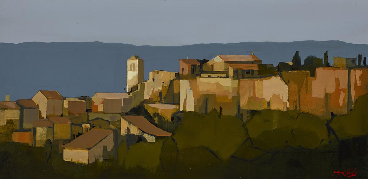 "Luberon Provence Study, oil on panel, 12"" x 24"", £5,900"