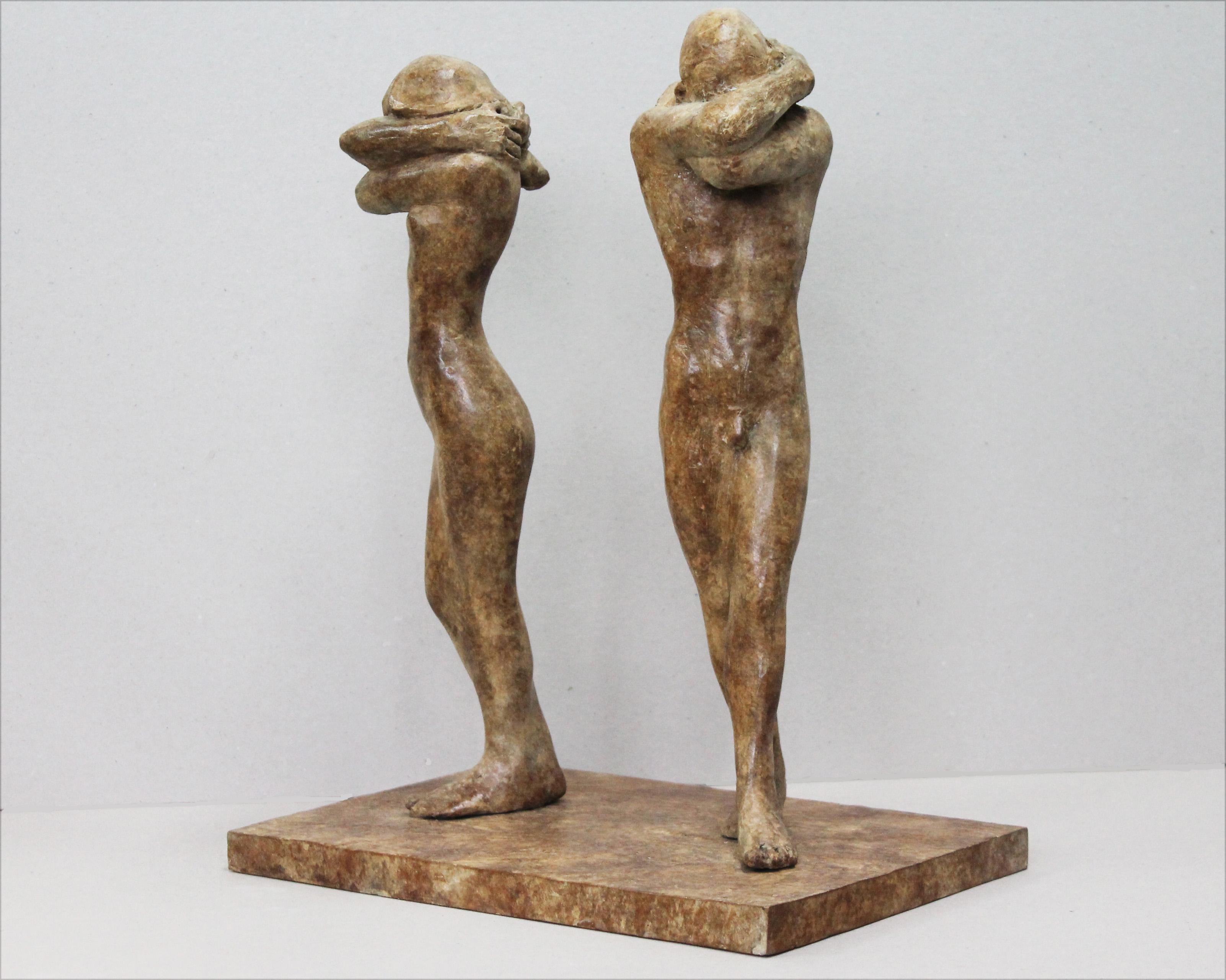 'Adam & Eve together in Shame', Bronze, edt of 6, 37cm x 24cm x 12cm, E2600