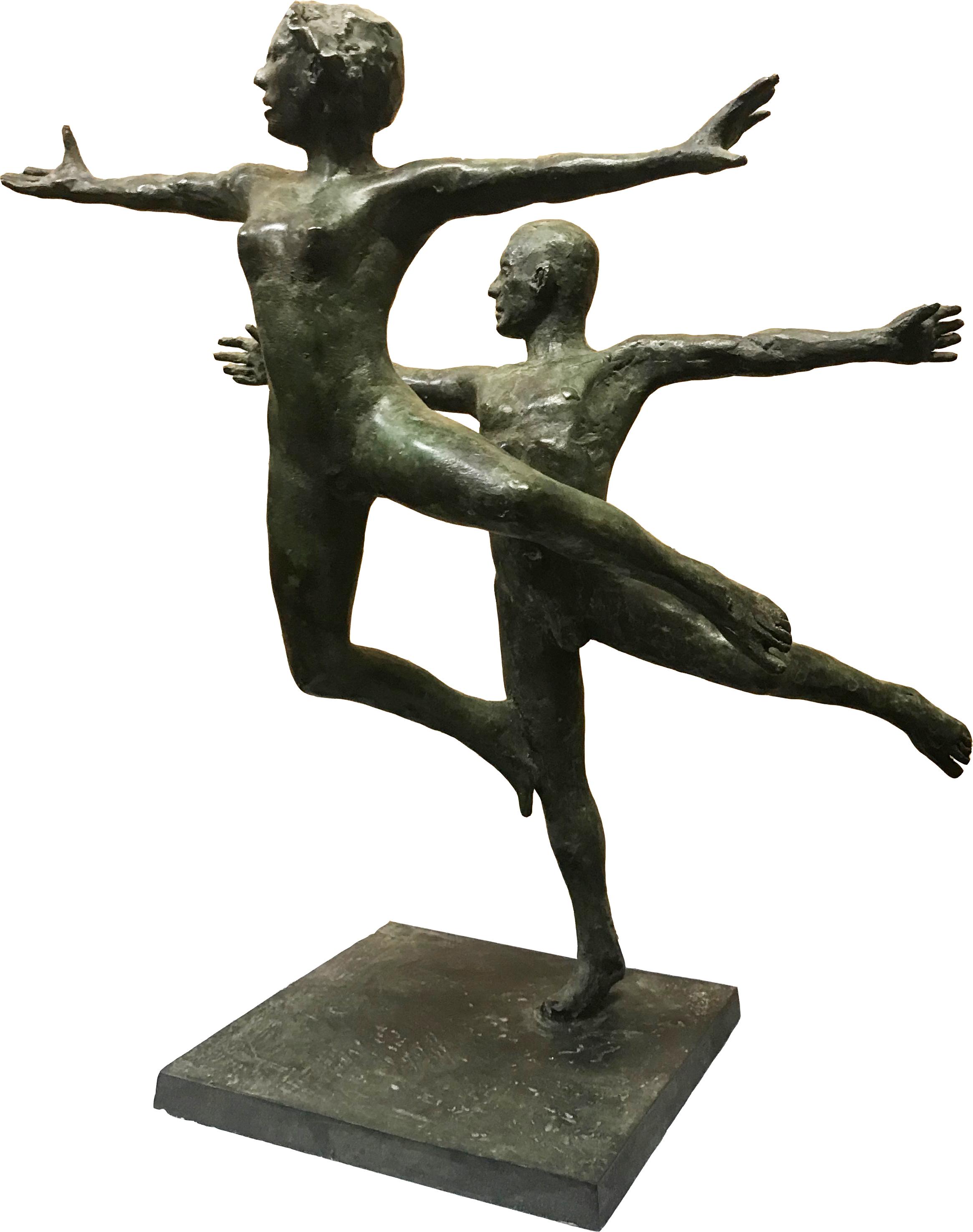 'Dancers in Air', Bronze unique, 42cm x 38cm x 18cm, E3200
