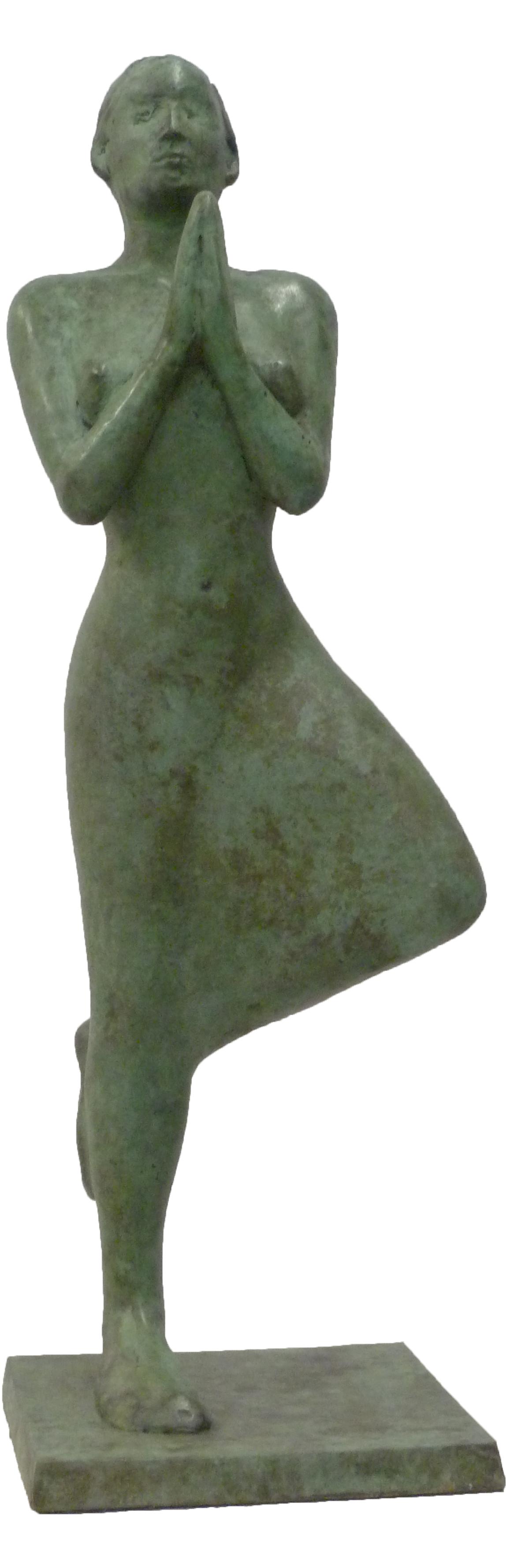 'Lady in a Meditative Pose', Bronze, edt of 12, 43cm x 13cm x 13cm, E2200