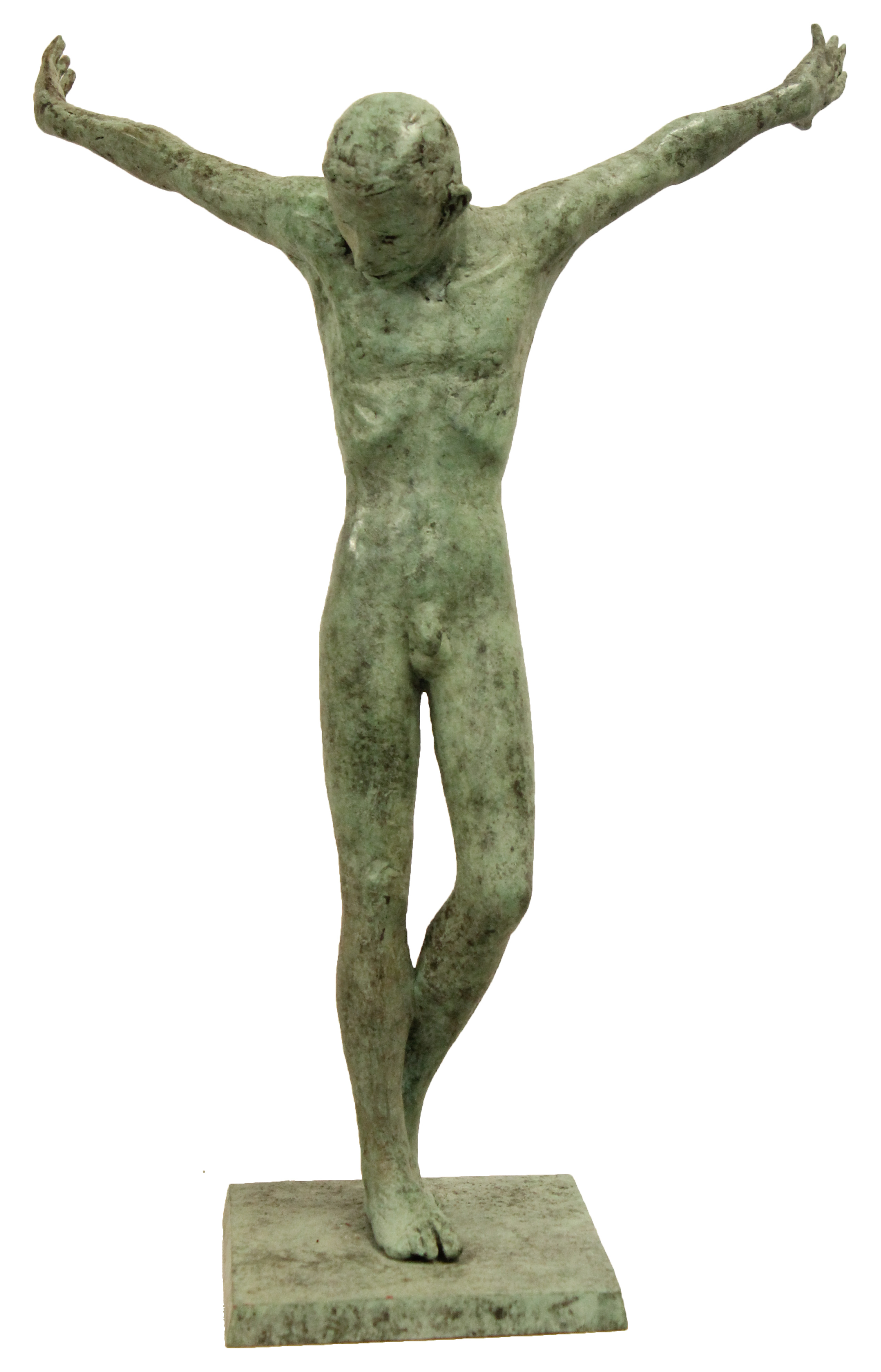 'Male with Outstretched Arms', Bronzee, edt of 12, 40cm x 30cm x 32cm, E2500