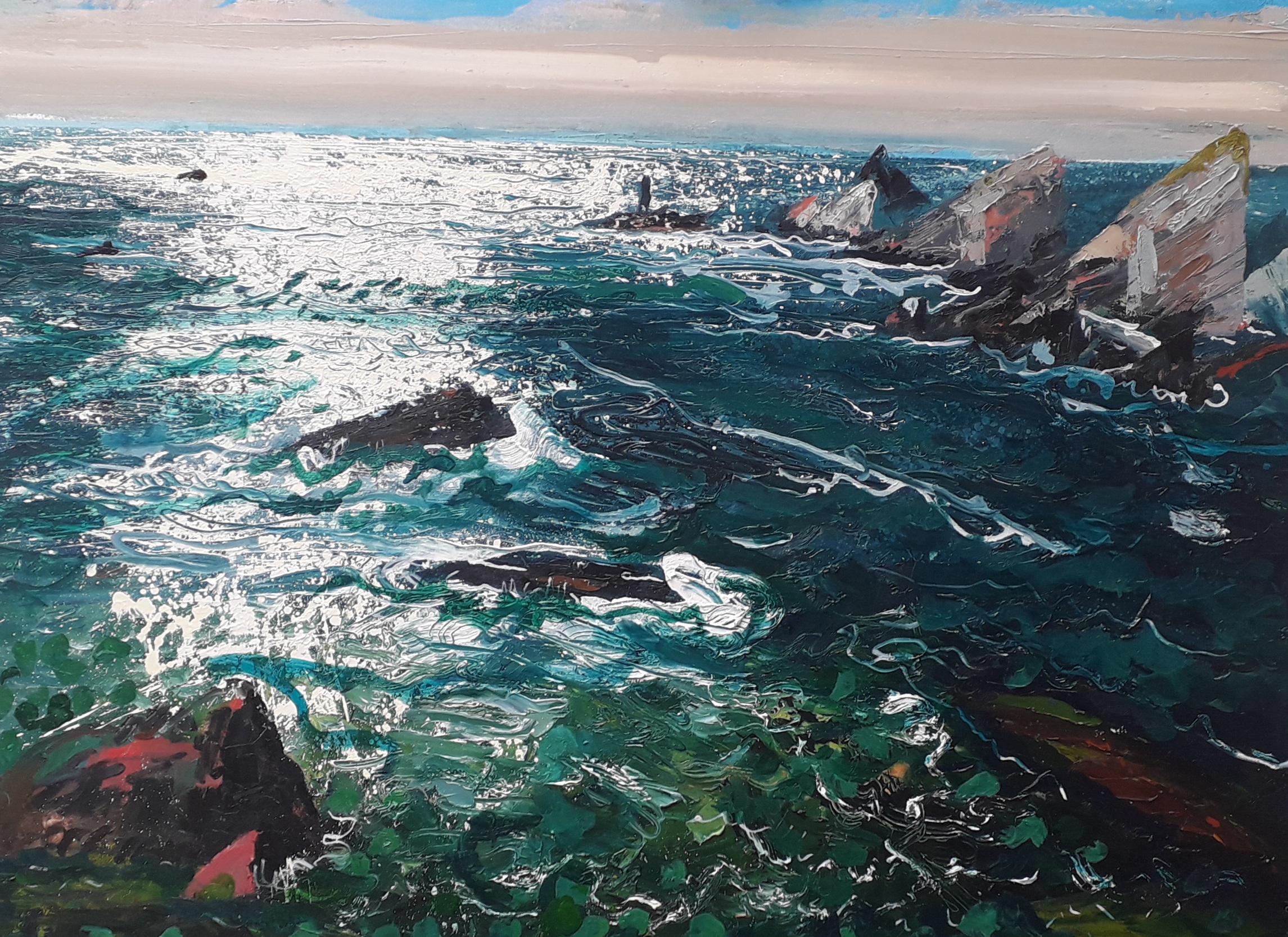 \'Atlantic Swell Donegal\', oil on canvas, 120cm x 90cm, £3300