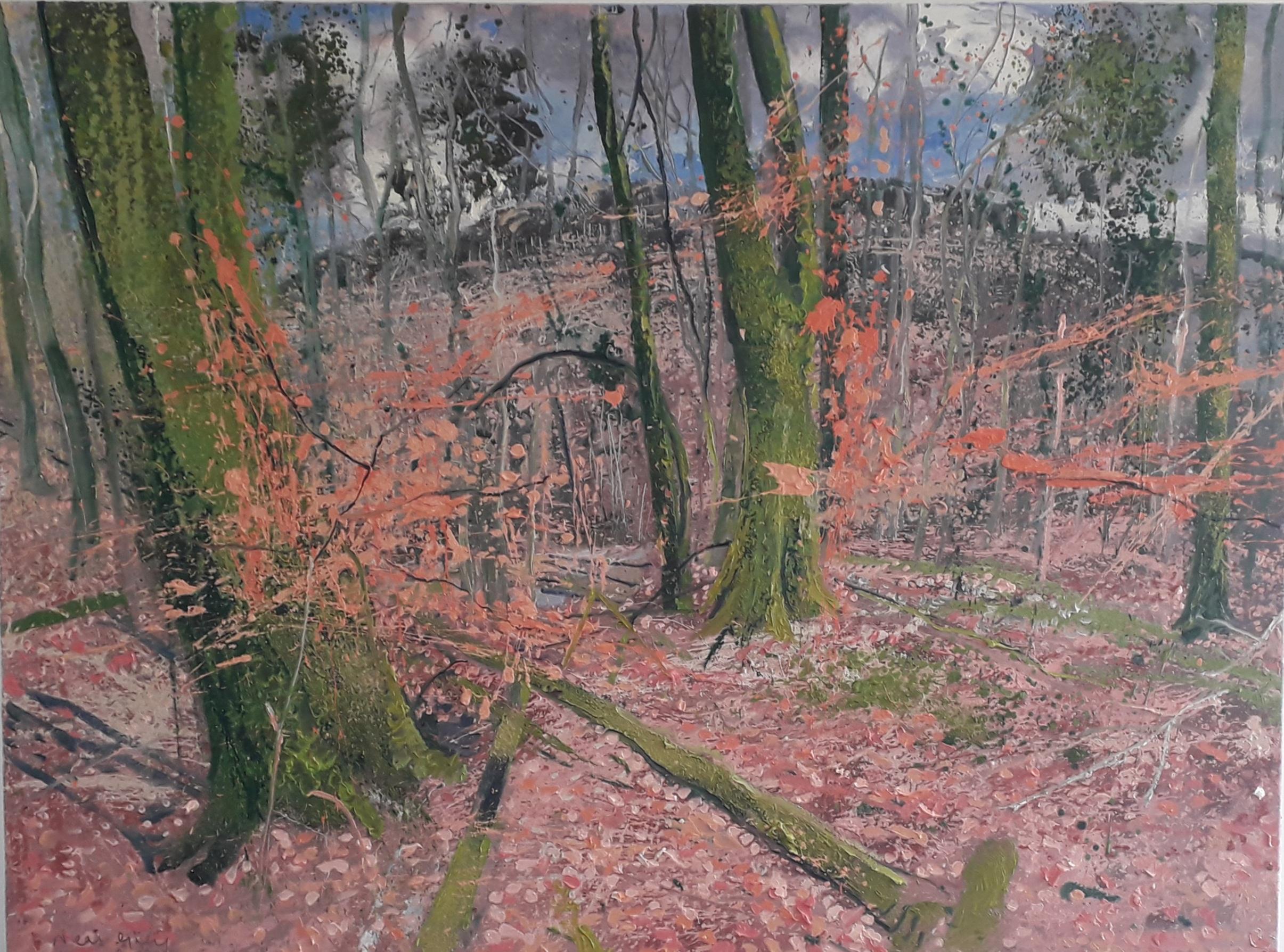 \'Derrygorry Woods\', oil on canvas, 120cm x 90cm, £3300