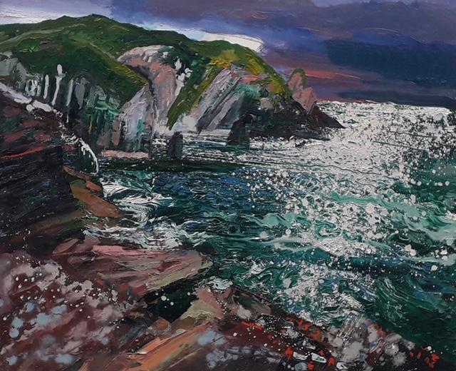\'Port\', oil on canvas,100cm x 80cm, £2600