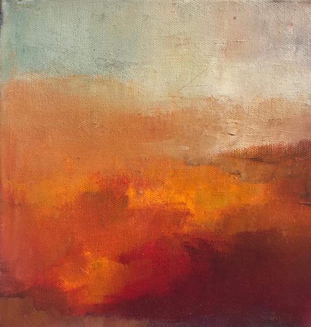 'Bogscape', oil on canvas, 20cm x 20cm, £525
