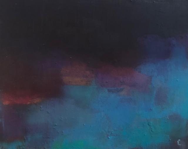 'Watersedge', oil on canvas, 46cm x 36cm, 1025