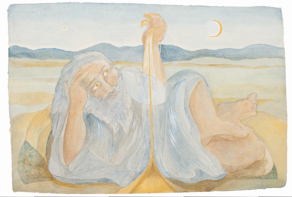 'The Philosopher in the Desert'  Ltd edt giclee print, 71cm x 104cm - NFS
